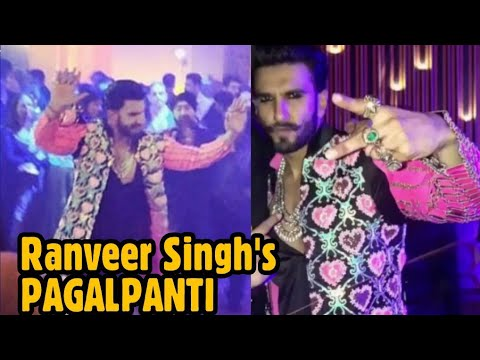 Ranveer Singh's PAGALPANTI at his Wedding Reception | DeepVeer's Sindhi Reception