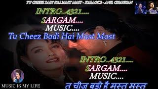 Tu Cheez Badi Hai Mast Karaoke With Scrolling Lyrics Eng. & हिंदी