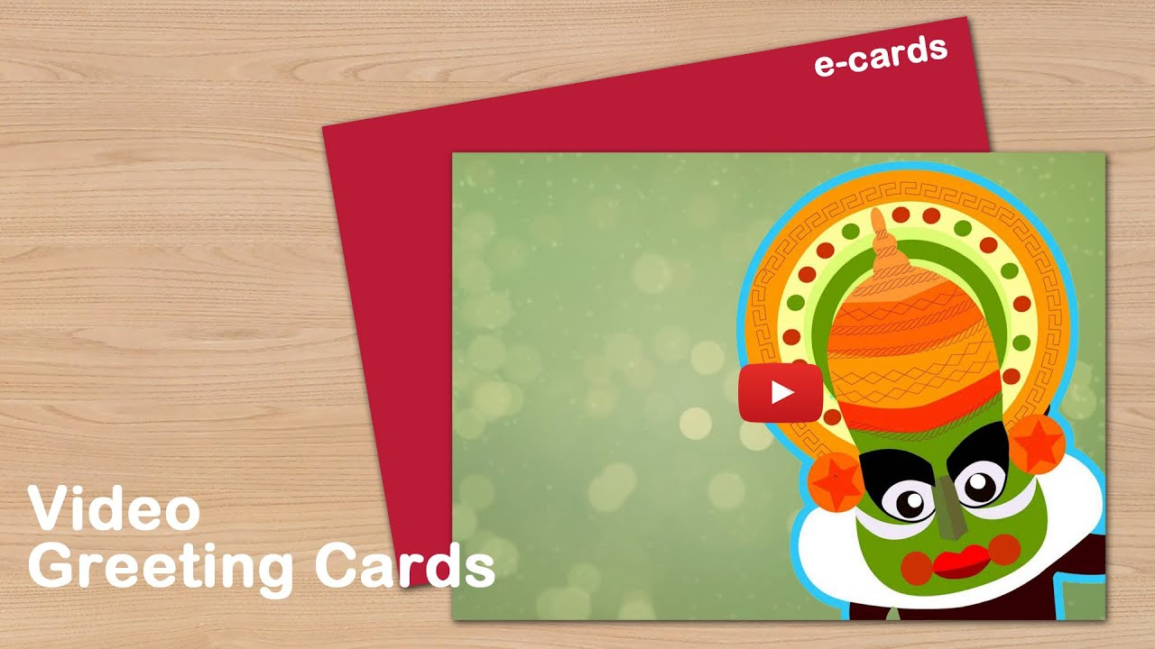 Happy Onam Video Greeting Cards Youtube