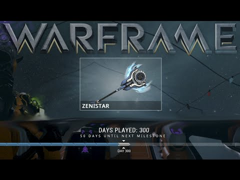 warframe zenistar 300 days played reward youtube. Black Bedroom Furniture Sets. Home Design Ideas