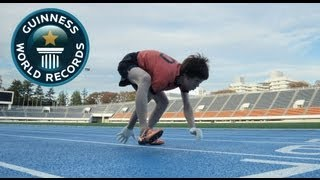 The Fastest 100m on All Fours! - Guinness World Records Day 2012