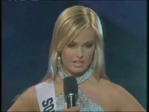 Miss teen usa 2007.Miss South Carolina answer a question.