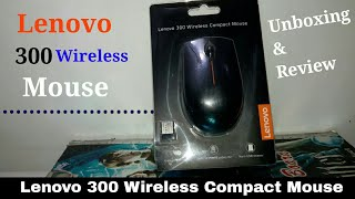 Lenovo 300 Compact Wireless mouse Unboxing & First Look
