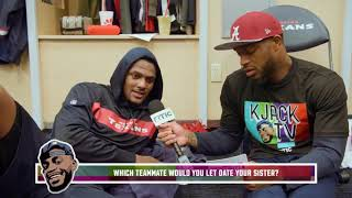 Texans Players say which Teammate they let date their Sister