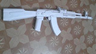 Hoe maak je een papier pistool dat schiet PAPIER AK-47 (TUTORIAL)