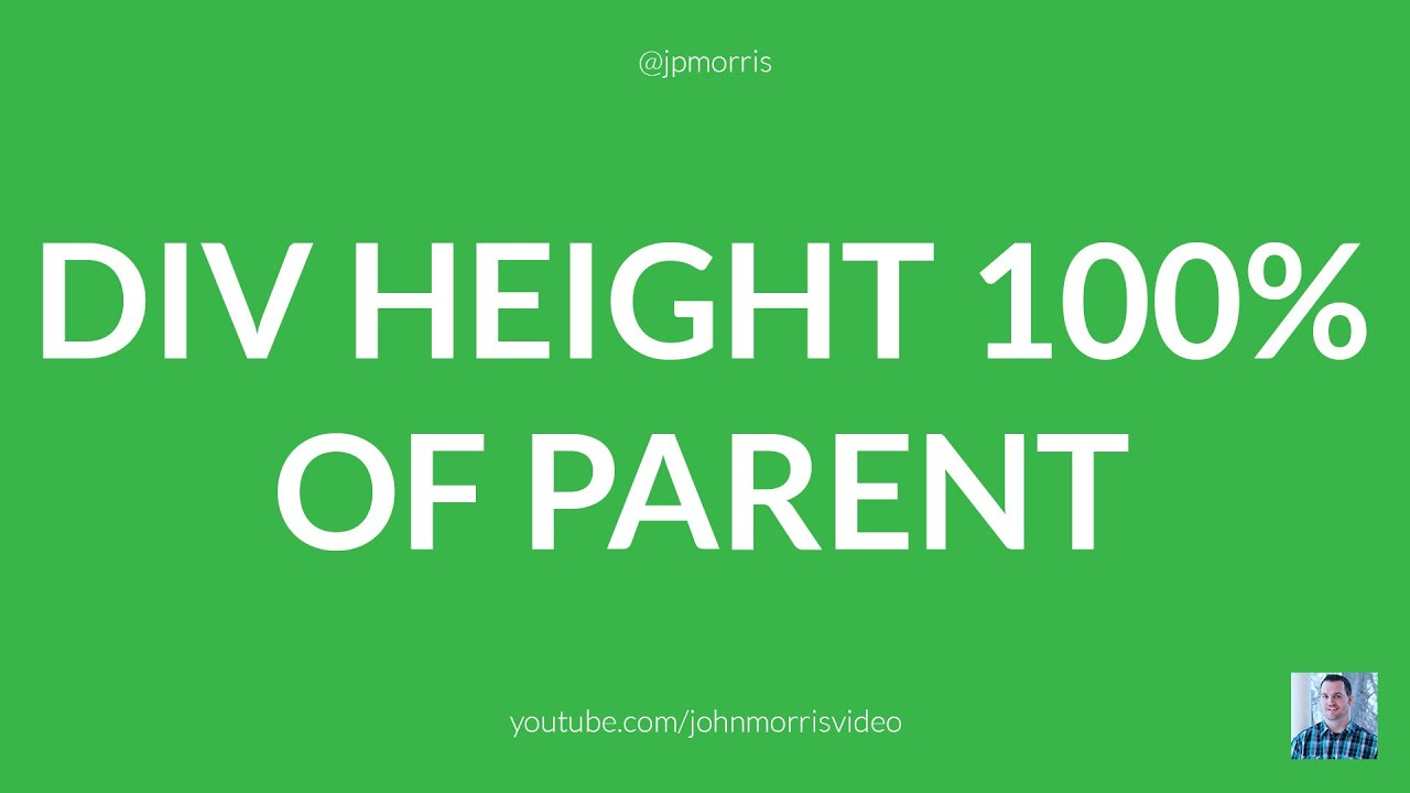 Set DIV Height to 100% of Its Parent Using jQuery