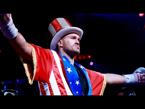 Tyson Fury's incredible ring walk against Tom Schwarz in full | MGM Grand, Las Vegas