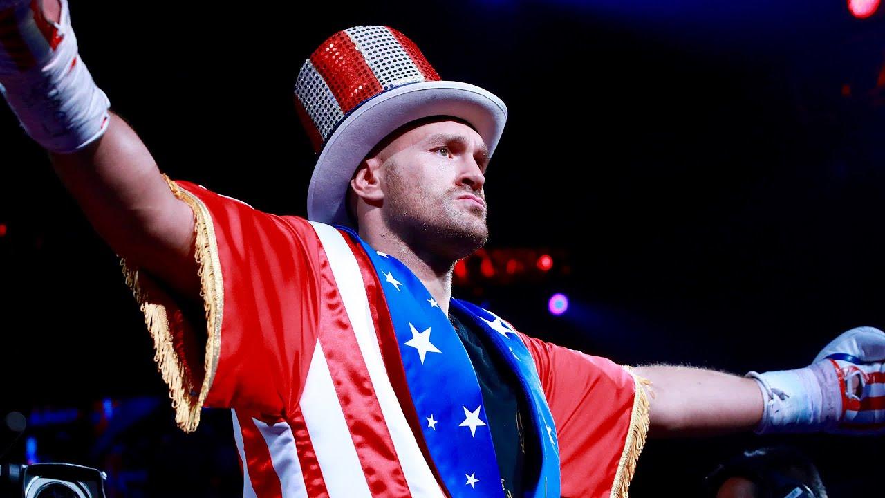 Tyson Furys Incredible Ring Walk Against Tom Schwarz In Full Mgm Grand Las Vegas