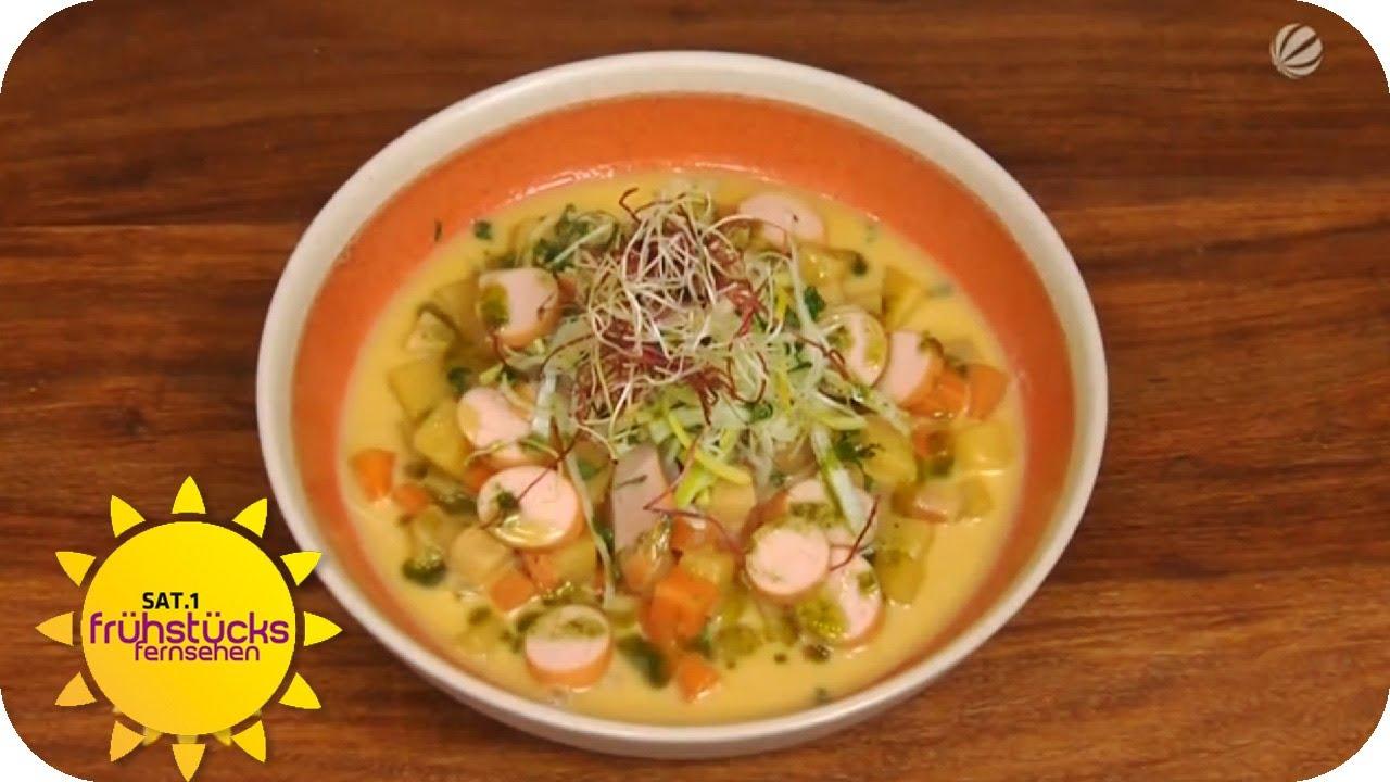 Rezept Kartoffelsuppe Kochen Sat1 Frühstücksfernsehen Youtube