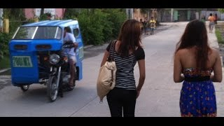 Tricycle Ride through General Santos City in the Philippines