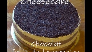 Dessert - cheesecake chocolat & fruit de la passion