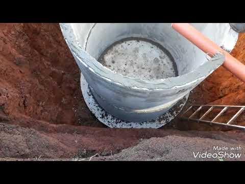 видео: Септик из жб колец. Простой ваииант.
