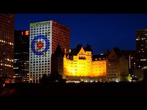 Alberta Tribute: ATB Place Tower Light Show | Yegventures.ca