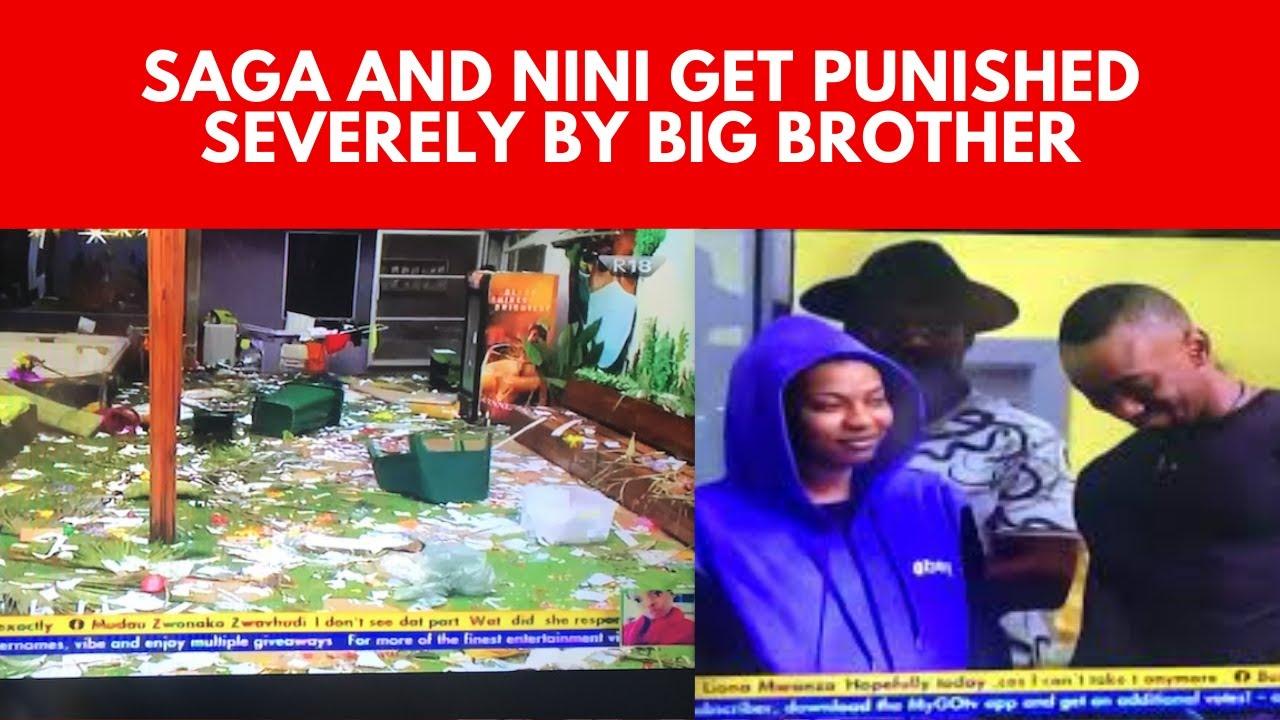 BIG BROTHER NAIJA 2021   Nini And Saga Get A Strike   Saga Betrays Pere   House Mates Surprised