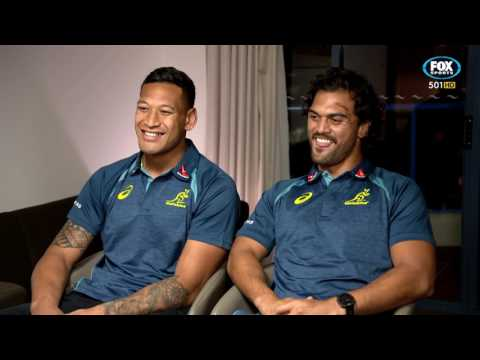 Rugby Kick and Chase - Israel Folau and Karmichael Hunt