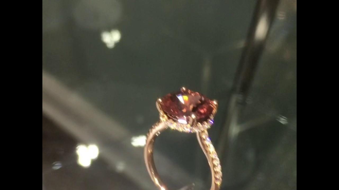 Spinel Amp Diamond 18k Ring Youtube
