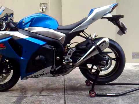 suzuki gsx r 1000 k9 dual m4 exhaust youtube. Black Bedroom Furniture Sets. Home Design Ideas