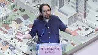 Pablo Iglesias en el gran encuentro municipalista.