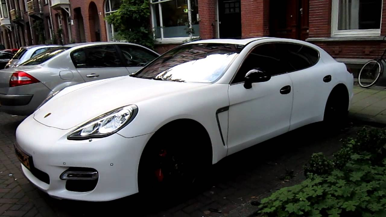 matte white porsche panamera turbo walkaround youtube