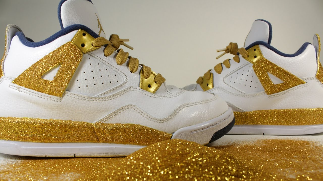 Glitter Jordan 4 Retro Custom Jordans How To Diy