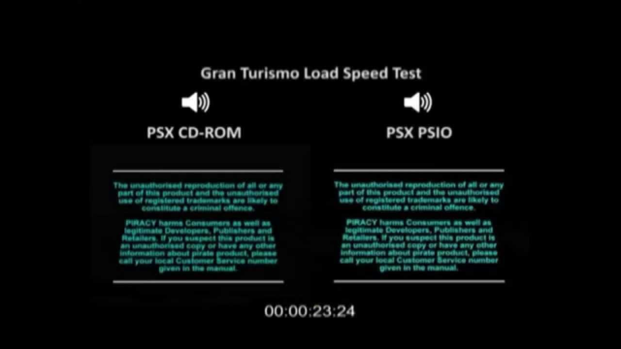 PSIO Speed Test - Gran Turismo