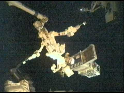 Dextre's First Repair Job on the ISS