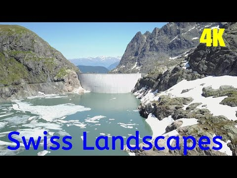 Beautiful Swiss Landscapes 4K UHD Chillout Relax Music Switzerland Video