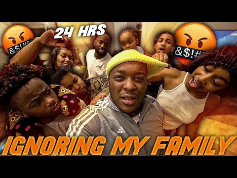 """Ignoring My Family For 24 Hours !! """"GONE WAY TOO FAR """" 