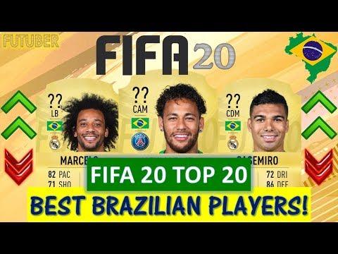 FIFA 20 | TOP 20 BEST BRAZILIAN PLAYER RATINGS! FT. NEYMAR, CASEMIRO MARCELO ETC..(FIFA 20 UPGRADES)