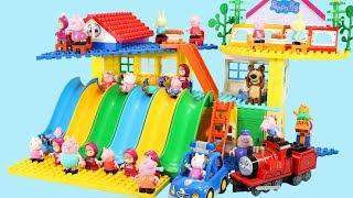 Peppa Pig Blocks Mega House Toys For Kids - Lego Duplo House Construction Sets #6