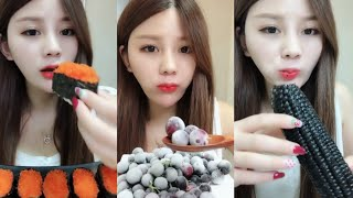 [ASMR] Tiểu tỷ tỷ ăn nước đá, chocolate p11 |Ăn uống Trung Quốc|เสียงกินน้ำแข็ง氷を食べる音