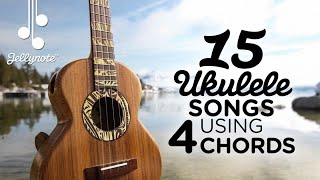 Скачать 15 Songs Using 4 Chord Shapes On Ukulele Am F G C