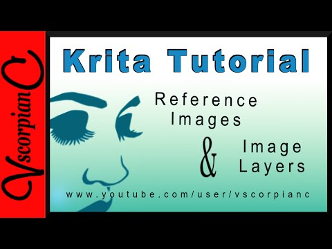Krita Tutorial - How to Use Image Layer vs Reference Images by VscorpianC