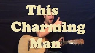 This Charming Man (The Smiths) Easy Strum Guitar Lesson How to Play Licks Tutorial Capo 2