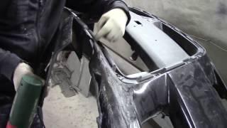 мицубиси ч-3 ремонт убитого бампера с минимальными затратами