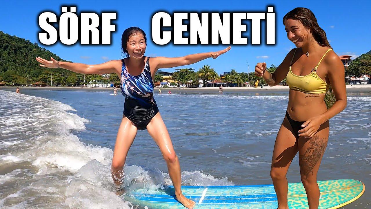 Amerikalı Arkadaşım ile Sörf Yapıyoruz!