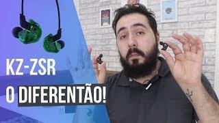 UM FONE EXIBICIONISTA! - KZ- ZSR Hybrid HiFi Earphones - REVIEW