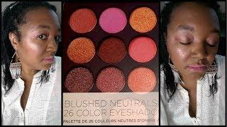 rose gold summer eye bh cosmetics 26 blushed neutrals eyeshadow blush palette