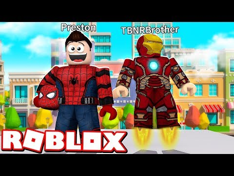 ROBLOX 2 PLAYER SUPERHERO TYCOON with MY LITTLE BROTHER!