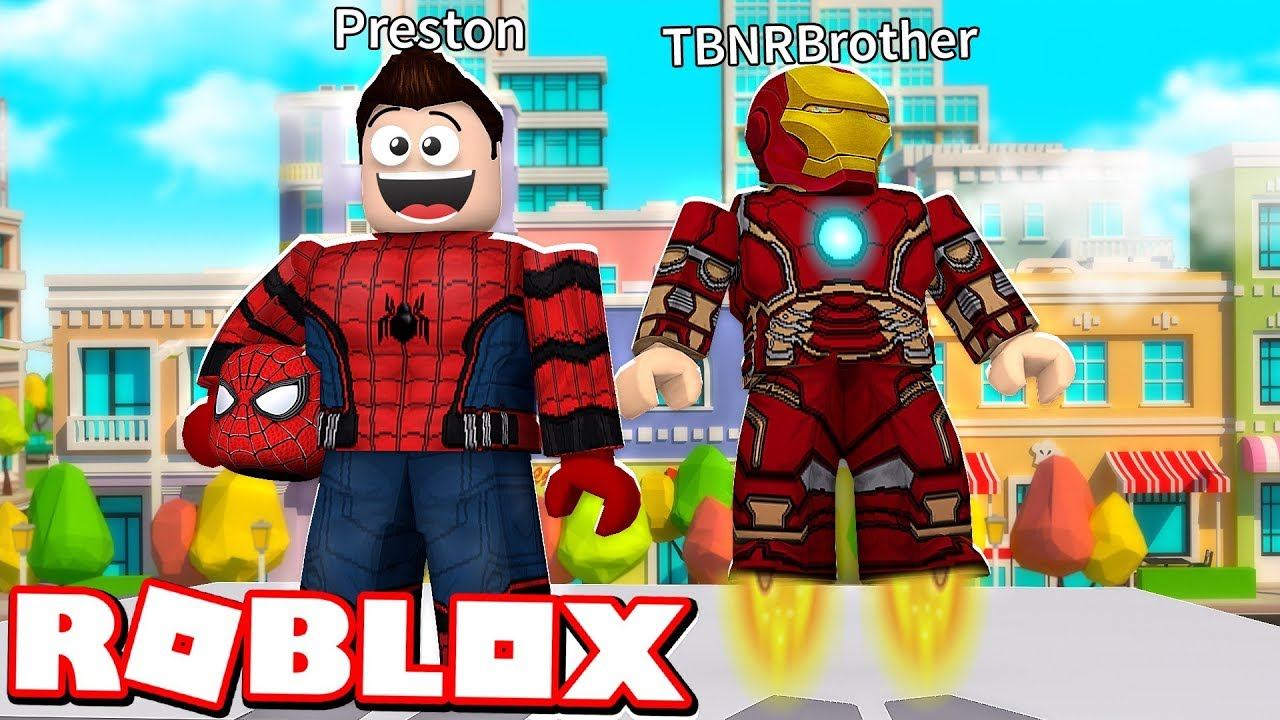 Preston Roblox Name Roblox 2 Player Superhero Tycoon With My Little Brother Youtube
