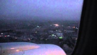 посадка в аэропорту Худжанд  (Tajik Air)