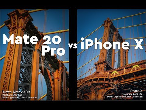 Huawei mate 20 pro vs iphone x camera test