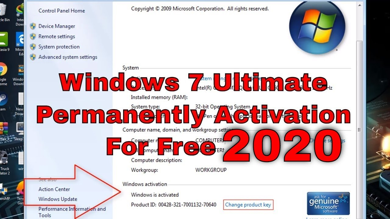 activate key windows 7 ultimate