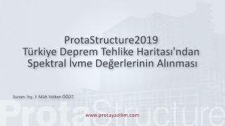 ProtaStructure 2019 - Türkiye Deprem Tehlike Haritası'ndan Spektral İvme Değerlerinin Alınması
