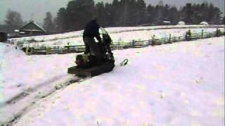 мотоцикл днепр на гусенице. снегоход