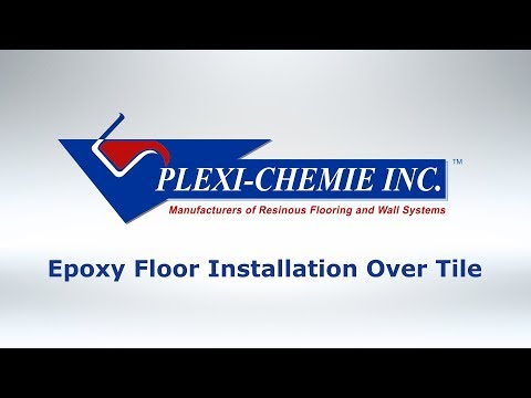Epoxy Floor Installation Over Tile
