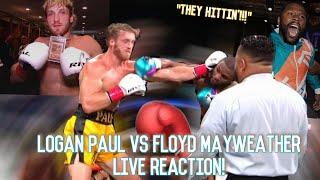 LOGAN PAUL VS. FLOYD MAYWEATHER LIVE REACTION!!! *DID LOGAN REALLY WIN?!?*   YBC ENT.
