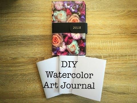 DIY  Watercolor Art Journal