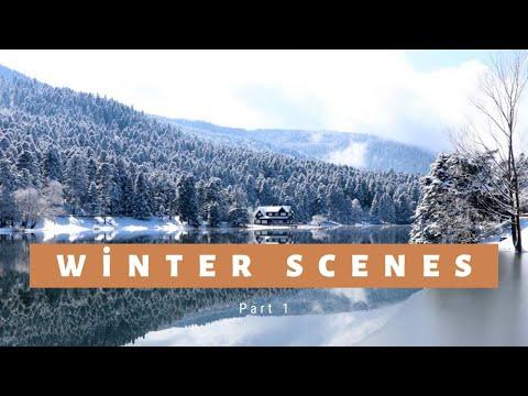 4K Зимние Сцены-4K Kış Manzaraları-4K Winter Scenes Part-1