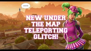 UNDER THE MAP GLITCH!! TELEPORT TO SALTY SPRINGS! - Fortnite Battle Royale